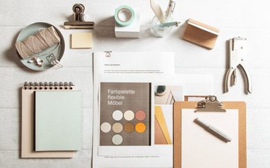 Colours at work: how a colour concept raises working efficiency in a home office