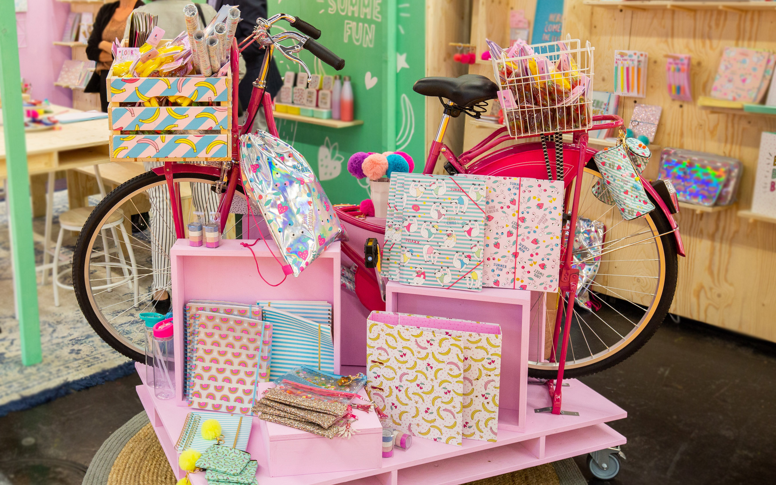 bicycle with stationery products