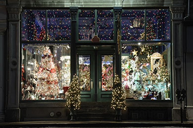 store entrance for christmas