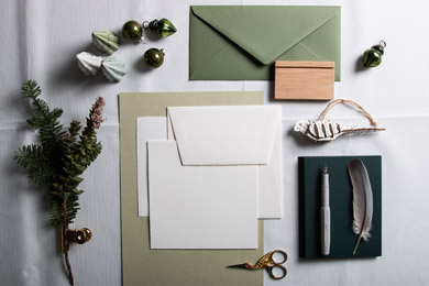 paper with the trend colour natural green